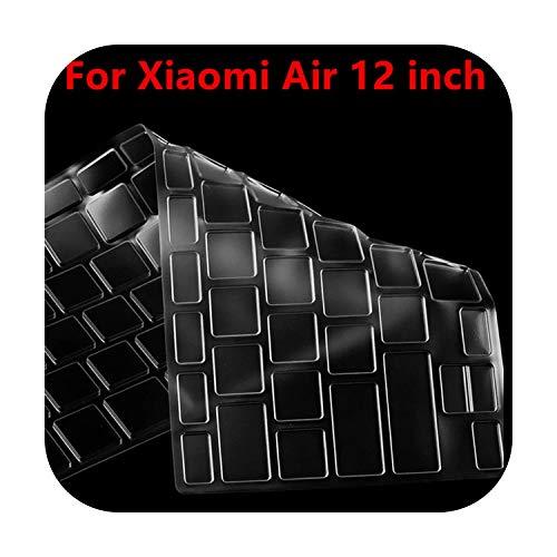 TOIT - Funda de teclado de silicona para Xiaomi Mi Notebook Air 12.5 13.3 Pro 15.6 - Protector de pantalla transparente de 12 pulgadas