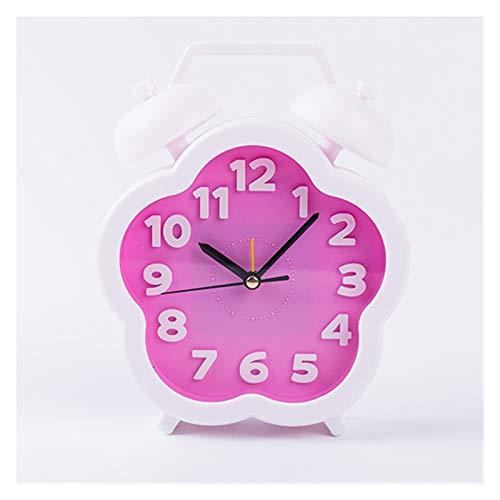 yywl Reloj Despertador Reloj Despertador Niños/Digital/Niño/Redondo/Grande/Rosa/Grande Reloj de Alarma Digital/Redondo Reloj de Alarma (Color : Pink)