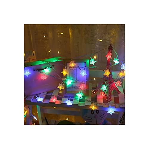 Luces de Cadena LED Luces de Hadas USB Encendido Encendido Luces Linternas Luces Intermitentes Luces de Cadena al Aire Libre Sala de Navidad Luces de Cortina Decoración (Size : Color-1.5m Battery)