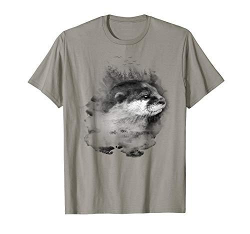 Wunderschöne Watercolor Otter Shirt–Save the Natur TShirt