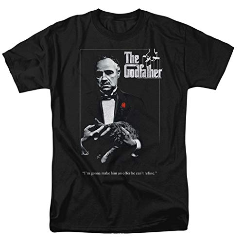 Godfather Poster T Shirt & Stickers (X-Large) Black
