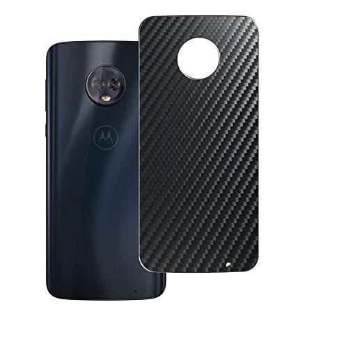 二枚 Sukix 背面保護フィルム 、 Motorola Moto G6 Plus 向けの ブラック カーボン調 TPU 保護フィルム 背面 フィルム スキンシール 背面保護 背面フィルム(非 ガラスフィルム 強化ガラス ガラス ケース カバー ) 修繕版