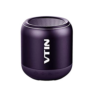 VTIN Mini Speaker with IPX5 Water-Resistant, Rich Bass and 360° Stereo Sound. Support Aux-in/TF Card, Easy to Pair, Portable Bluetooth Speakers with Bluetooth 4.2 for Room, Car, Travel- Yellow