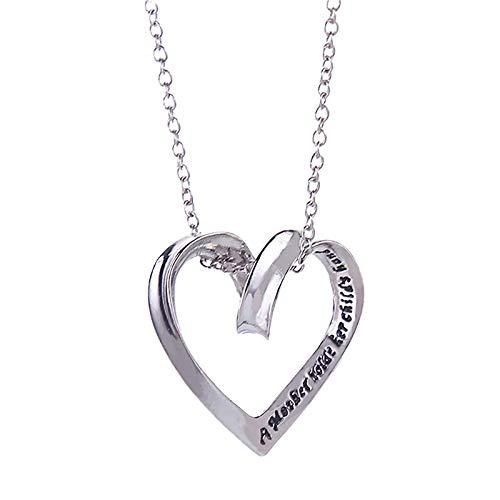 Collar con colgante de cadena de cristal de corazón para mujer, regalo para el día de la madre