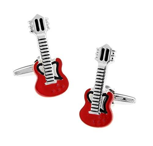 SYXYSM Music Series Cufflinks Men's Guitar Cufflinks Knotted Cufflinks Men's Gift Set Cufflinks Kit (Color : IS)