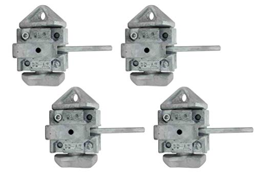 Mytee Products (4 Pack) Sea Rail Shipping Container Manual Twist Lock Twist Lock Left-Right Handlocking