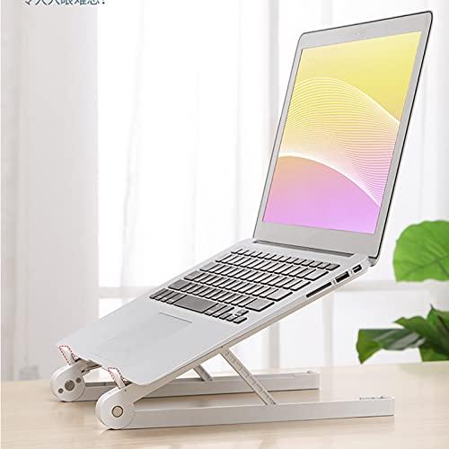 QYQS Supporto per Laptop Regolabile, Stabilendo La Corretta Postura Seduta Aiuta A Migliorare L'efficienza del Lavoro Quotidiano, Supporto per Laptop(Color:Bianca)