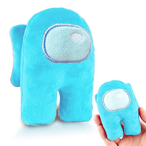 Lattcure Among Us Plush - Peluche de astronauta, peluche suave, multicolor, para coleccionar, color azul cielo