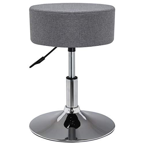 Drehhocker Sitzhocker Hocker RUND höhenverstellbar drehbar aus Kunstleder Farbauswahl Duhome 428S, Farbe:Grau, Material:Stoff