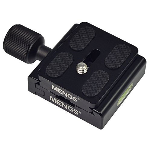 MENGS® CL-50A CL-50S CL-50C CL-60S M-577 CL-120 K30 CL-70S CL-50LS CL-50L - Soporte de 1/4 de pulgada para cámara y tornillo de fijación M6 ajustable fabricado en aluminio sólido con zapata estándar compatible con los modelos Akai estándar.
