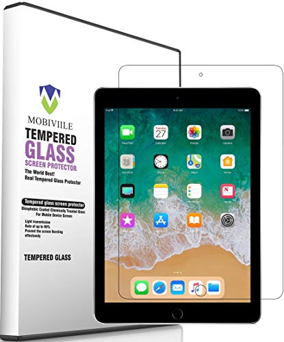 MOBIVIILE® 2.5D Curved 0.3mm Flexible Gorilla Tempered Glass Screen Protector Shield for Apple iPad 2/3/4 [9.7 Inch Screen Size]