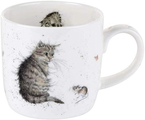 Tasse de chat unique Wrendale by Royal Worcester avec design de chat et souris