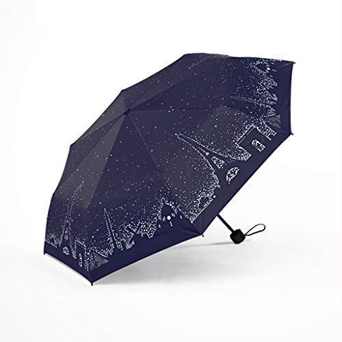 Unbekannt Innovativer UV-Sonnenschutz-Regenschirm UV-Schutz Regen Doppelt verwendbarer Klapp-Sonnenschirm THANSANDAU (größe : Five fold Umbrella)