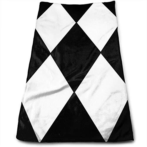 Cute Bi Harlekin Muster Schwarz Weiß Gesicht Handtücher Mikrofaser Sporthandtücher für Die Sporthaarpflege Kosmetologie Reinigung Möbel Make Up Entfernen von Tüchern Schnell Trocknend 12×27.5 Zoll