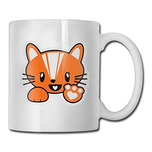 Tazze da caffè Orange Cat 11 Oz Tazza da tè in ceramica 11oZ Il regalo perfetto per la famiglia e gli amici