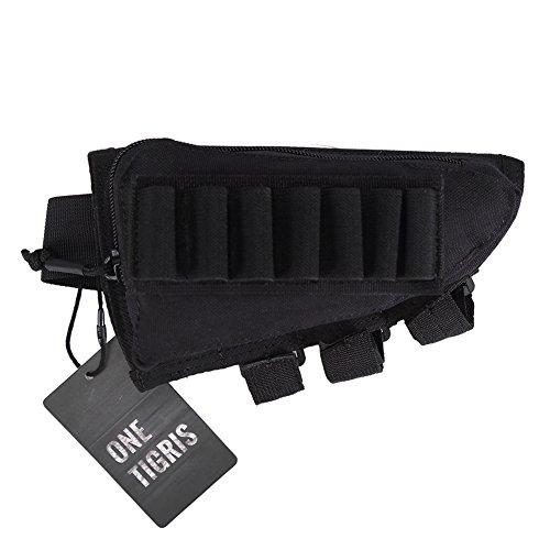 """Cartuccera OneTigris per cartucce arma portacartucce, nero, 8.3 """"(L) x 4.3"""" (B) / 21 x 11cm"""