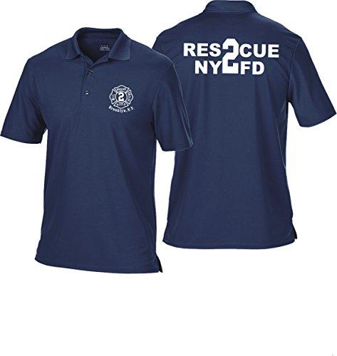 feuer1 Polo Bleu Marine Multifonctions, nyfd Rescue 2 – Brooklyn 3XL Bleu Marine
