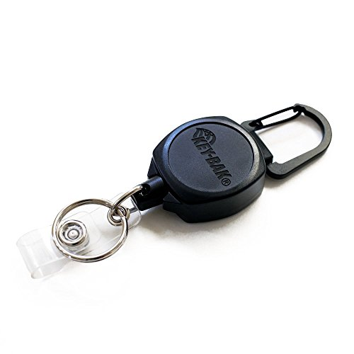 KEY-BAK Sidekick ID Badge & Key Reel, 24 Kevlar Cord w/Polycarbonate Case 3pk by Key-Bak