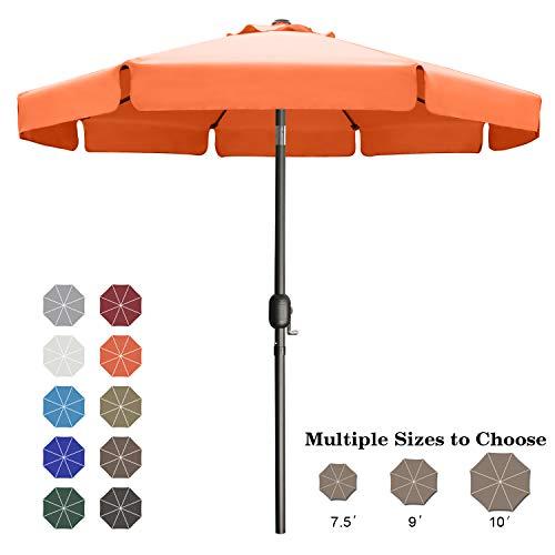 ABCCANOPY 9' Patio Umbrella Table Market Umbrella with Push Button Tilt for Garden, Deck, Backyard and Pool, 6 Ribs 13+Colors,Orange