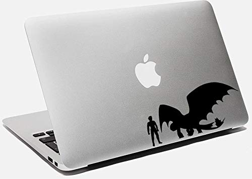 Tandloos Decal Hoe om te trainen uw Draak Sticker voor Laptop MacBook Apple Tandloze Vinyl Decal voor Car Wall Windows Eenvoudig aan te brengen en verwijderbaar