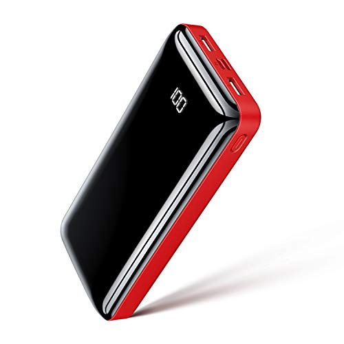 Portable Charger Power Bank 30000mAh Bextoo Huge Capacity High-Speed 4 USB Ports External Battery Pack with Full LCD Digital Display Compatible with Smart Phone, Android Phone, Tablet and More
