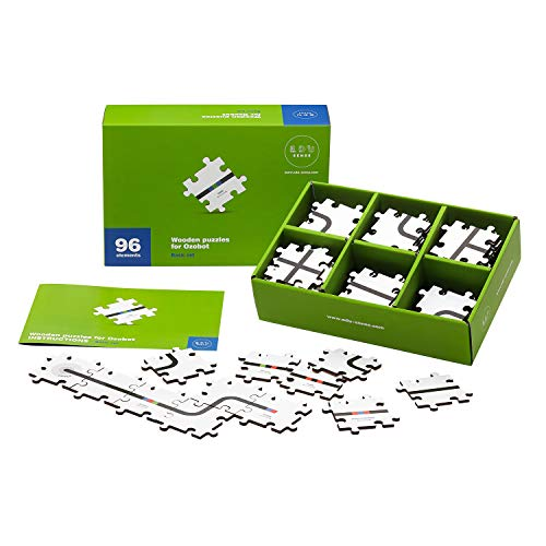 Wooden Puzzles for Ozobot | Basic Set of 96 Pieces | Develops Creativity, Logical Thinking & Learns The Basics of Programming | for Children Aged 5 and More