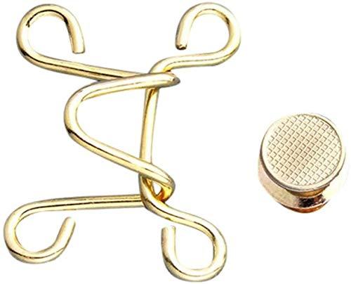 Yixin - Elastico in vita, senza chiodi, regolabile, con fibbia in vita, per jeans, gonne, pantaloni, collari, bottoni istantanei (2 set A)