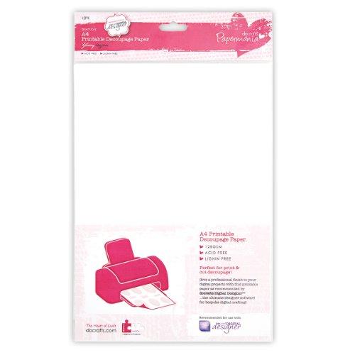 Papermania Decoupage - Papel para impresora (A4, 12 unidades, 128 g/m²)