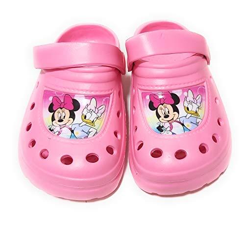 Zuecos Minnie Mouse Disney para niñas - Zuecos Minnie Mouse y Daisy para Playa o Piscina (Rosa, Numeric_30)