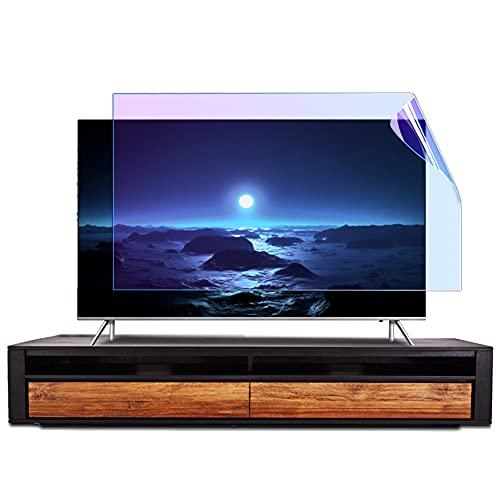 WSHA Filtro Anti luz Azul Protector de Pantalla de TV de 32'- 75' Película de protección Ocular Anti-UV, fácil de encender/Apagar, removible,65Inches(1429x804mm)