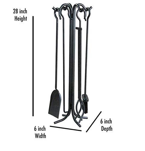 4 Stuks Companion Set Zwart Staal Vuurhaard Haard Accessoires Gereedschap