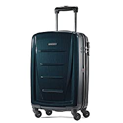 in budget affordable Expandable rigid suitcase with Samsonite Winfield 2-turn wheels, turquoise check – large 28 inches