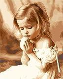 Pintura por números para niños y principiantes kit de pintura pintura acrílica de alta calidad pintura al óleo (sin marco) - niña linda