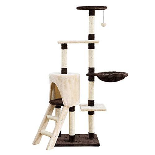 CHENMAO Cat Tree Cat Tower Cat Staking Mark con la litera de Gato Sisal Gato Juguete con la Plataforma de Salto de Nido del Gato Rack de Gato de rastreo