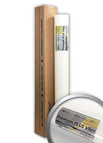 PRO[f]home® - Armierungsvlies Profi-Renoviervlies 160 g PremiumVlies PLUS rissüberbrückende überstreichbare Vliestapete weiß 25 m2 Rolle