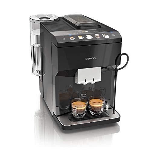 Siemens EQ.500 classic TP503R09 – Machine à café automatique avec écran tactile – Bac à grains et réservoir café moulu – 9 programmes – iAroma System – Couleur : Noir