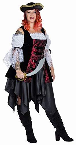 Rubies 13466 - Piratin Full Cut, Plus Size Damen Kostüm Gr. 42 - 58 - Kleid (54)
