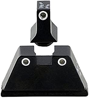 Trijicon Glock Suppressor Night Sight Set, White Front/White Rear with Green Front Lamp & Orange Rear Lamps