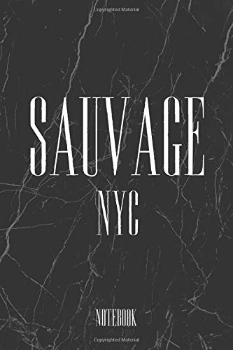 Men's Women's Elegant Sauvage NYC Journal Notebook Souvenir Diary 6x9 inch 100 Ruled Pages, Marble Notebook Style: Sauvage NYC By Bahaa Marble Style, ... Fashion Style Notebook Gifts And Souvenir