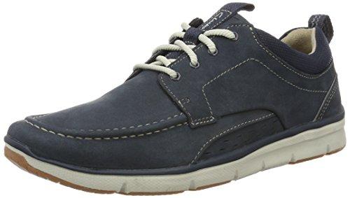 Clarks Orson Bay, Zapatos de Cordones Derby para Hombre, Azul (Navy Nubuck-), 44.5 EU
