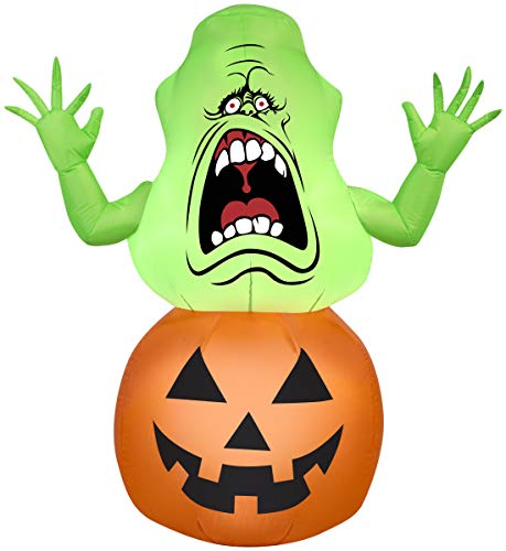 Halloween Inflatable 4 1/2' Slimer in Pumpkin, Holiday Decoration by...