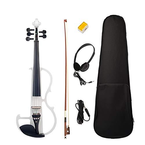 5 String Silent Violin 4/4 Solid Wood Electric Violin Fiddle W/Ebony Accessories 4/4 Student Violin SET SEYMM