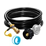 GCBSAEQ 6FT Propane Quick Connect Hose with Regulator for Olympian 5100, 5500 RV Grill, Low Pressure Gas Regulator with Hose and Female Quick Connect x Acme Nut