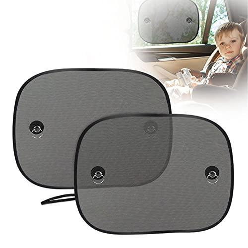 Sonnenblende Auto Baby, AODOOR Sonnenblende Auto Baby Kinder Seitenscheibe Universelle Auto Sonnenschutz 2 STK für Baby, Kinder, Haustiere - mit Saugnäpfen