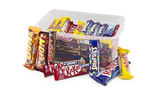 Mixxboxx van 48 stuks - Lion, Lion Pindanoot, Rolo, KitKat Chunky Wit, KitKat Chunky Melk, KitKat 4-finger, Smarties, Crunch en Nuts Chocolade Repen - Voordeelpak/voordeelpack