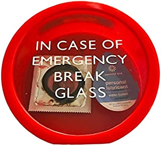 RAL Novelty Condom and Lube Safe Sex Gag Gift - Break in Case of Emergency