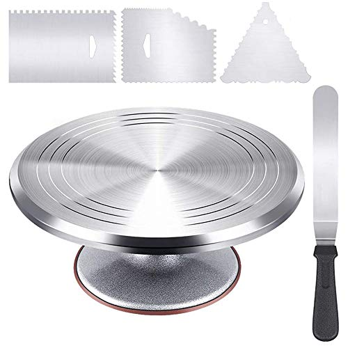 12quot Cake Stand Set 4in1 Aluminium Alloy Revolving Cake Turntable Cake Stand Rotating
