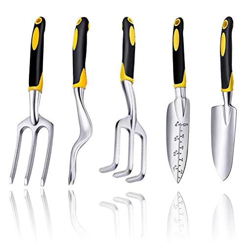 nuoshen 5 pcs Gardening Tools Set, Stainless Steel Gardening Hand Tool...