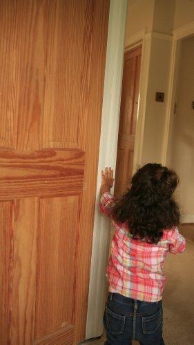 CHILDRENS DOOR HINGE FINGER PROTECTOR GUARD 1.95M CHILD SAFE HOME OR INDUSTRIAL
