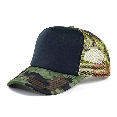 GorrasDeHombre Sombreros Gorra Camuflada De Camuflaje para Hombre Gorras De Béisbol De Malla Transpirable Gorras Deportivas De Camuflaje Militar Al Aire Libre Sombreros De Sol para Mujer Blacka